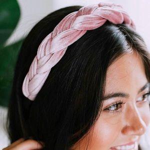 NWOT Braided Velvet Headband